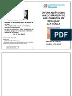 Administracion de Medicamentos en Domicilio via Topica