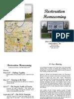 Restoration Homecoming brochure