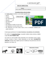 Guía N°6 SERES VIVOS Y NO VIVOS.