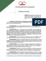 Decreto Municipal Nº 045, de 25 de maio de 2021