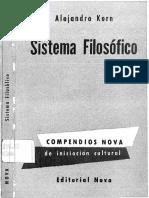 Sistema Filosofico-Alejandro Korn