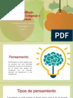 El Aprendizaje, Pensamiento, Lenguaje e Inteligencia