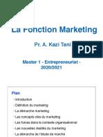 Fonction Marketing Cours M1 Entrepreneuriat 2021