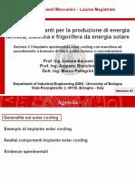 Impianti Meccanici M_modulo 2.3_Impianto solar cooling con macchina ad assorbimento a bromuro di litio_v03
