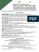 2011 Spring Programs