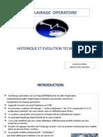 4 L'ECLAIRAGE OPERATOIRE Historique Et Évolution Technologique