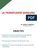 Transfusion sanguine Master Réa CEC