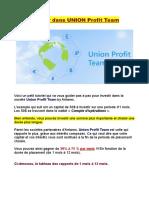 Tuto - Investir dans UNION Profit Team