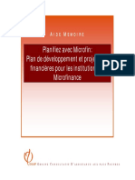 Planification MICRO Finance