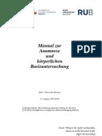 Manual Anamnese Und Untersuchung