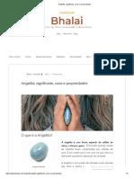 Angelita_ Significado, Usos e Propriedades
