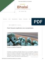 Pedra Turquesa_ Significado, Usos e Propriedades
