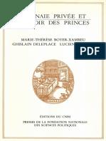 Marie-Thérèse Boyer-Xambeu, Ghislain Deleplace, Lucien Gillard - Monnaie privée et pouvoir des princes-Presses de Sciences Po (1986)