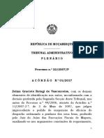 Acórdão n.º 01 - 2017 - Processo n.º 22 - 2007 - Zelma Graciete Retagi de Vasconcelos