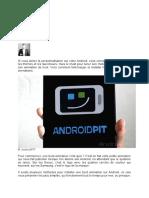 Télécharger et installer une boot animation sur Android