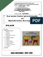 13 La zone inter proximale et syndrôme du septum Dr CHAABNIA