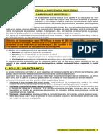 102 - Introduction à La Maintenance Industrielle