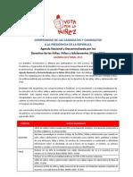 Agenda Nacional por los Derechos de la Niñez y la Adolescencia 2011-2016