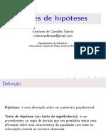 Teste de Hipóteses - Revisão e Variância(Est2)