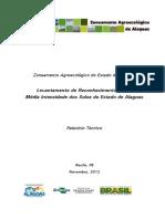 Levantamento de Reconhecimento de Baixa e Média Intensidade Dos Solos Do Estado de Alagoas
