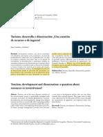 Córdova y Ordoñez (2009) Turismo, desarrollo y disneyzación subrayado
