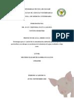 Proyecto- Mercedes Zambrano- Porcinotècnia