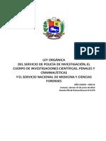 Ley Org del Servicio de Policia ( CICPC) 15- 6- 2012
