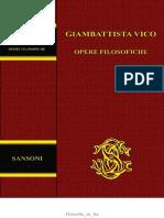 Giambattista Vico, A Cura Di Nicola Badaloni e Paolo Cristofolini - Opere Filosofiche (1971, Sansoni) - Libgen.lc
