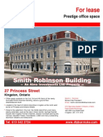 Smith Robinson Building office space leasing flyer