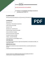 Guía de IAAC para mantener la trazabilidad metrológica durante la pandemia de COVID-19