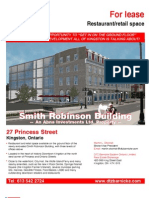 Smith Robinson Building marketing flyer for retail space leasing opportunities