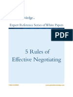 Negotiation in Business - 5 Rules