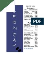 Brew Jay Logo Food Prices