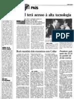 1990 - Visita do presidente George Bush ao Brasil