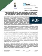 Comentarios de la SHCP a la Propuesta de Reforma Fiscal del PRI