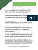 Planilha de informações para texturização