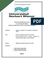 CHECK LIST DE AUDITORIA INTERNA ISO 9001  TRABAJO GRUPAL
