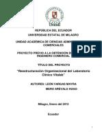 Reestructuración Organizacional del Laboratorio Clínico Vitalab