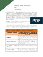 informe ejecutivo auditoria interna control de calidad