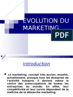 EVOLUTION DU MARKETING finale