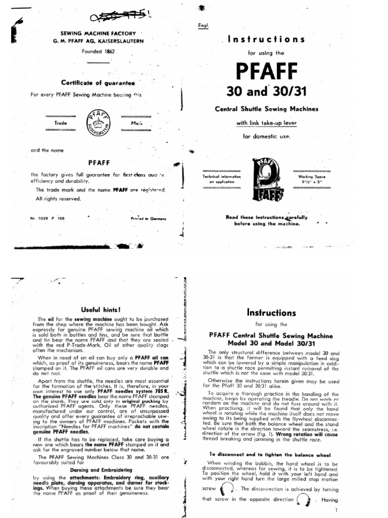 pfaff 332 user manual pdf