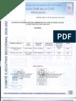 Listado cambios de adscripción 2020 Michoacán