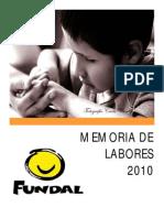 MEMORIA DE LABORES 2010 (BR)