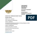 EXAMEN PARCIAL TURBINAS DE VAPOR Y DE GAS 2021 I