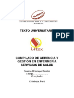 Gerencia y Gestion - Texto Compilado de Gerencia y Gestion en Enfermerìa y Servicios de Salud