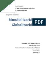 mundialización y globalización