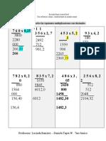 Guía multiplicación con decimales