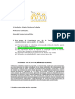 AVALIAÇÃO DE DCT.