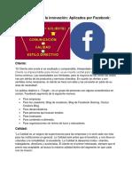 Facebook (modelo y tipos de innovacion)