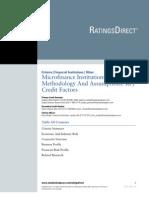 MicrofinanceMethodologyAssumptions